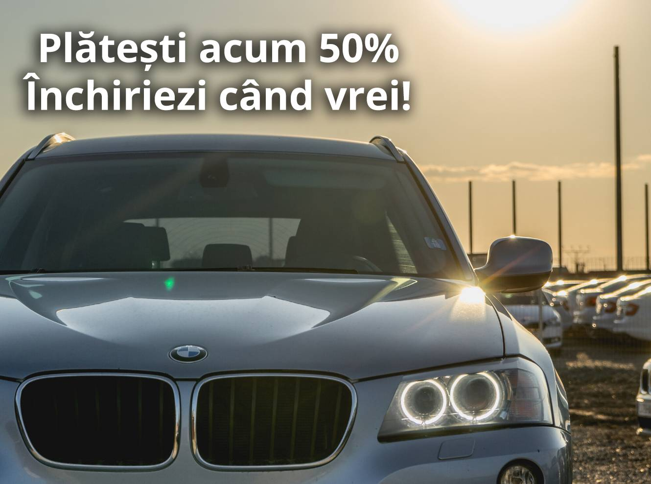 Special offer of 50% discount on car rentals Cluj